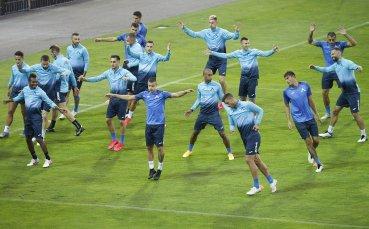 Левски с последна тренировка преди гостуването на Ботев Пд