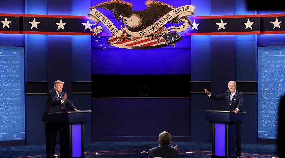 Дебатът на годината: Тръмп и Байдън приковаха вниманието на света (СНИМКИ/ВИДЕО)