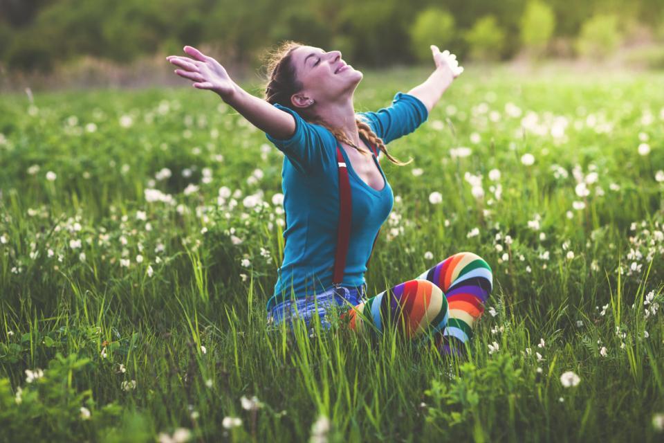 жена щастие пролет
