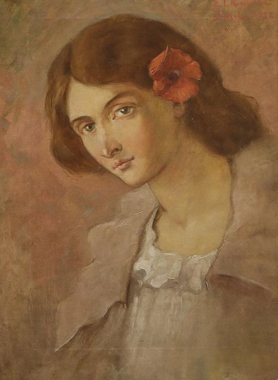 <p>Елисавета Консулова-Вазова, Портрет 1922 г.</p>