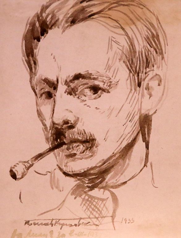<p>Преслав Кършовски, Автопортрет 1933 г.</p>