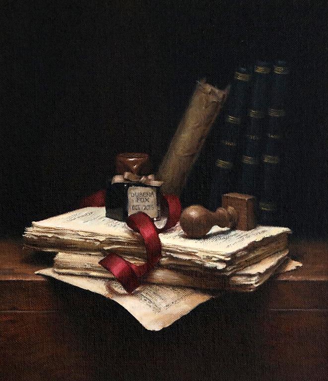 <p>Бюрото на поета, маслени бои/платно Poet&#39;s Desk, oil paint on canvas</p>