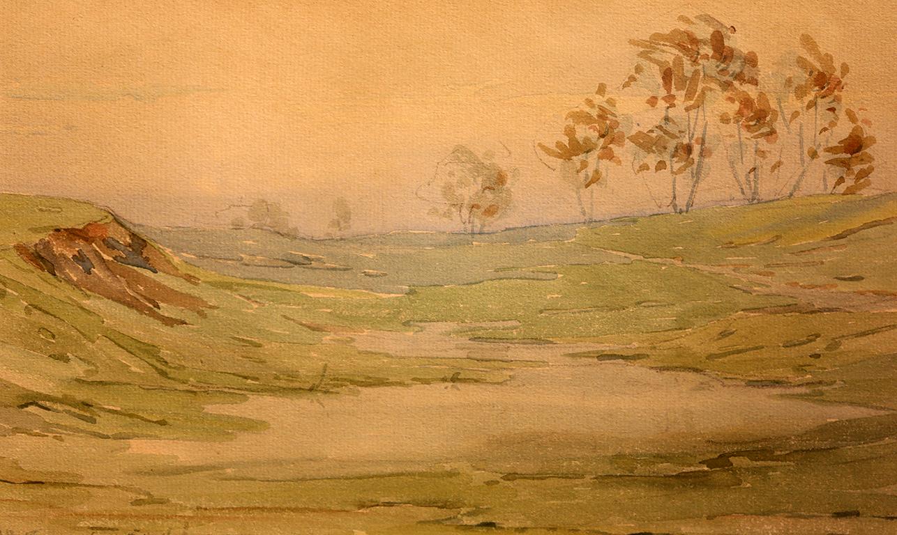 <p>Константин Щъркелов (1889 &ndash; 1961)</p>  <p>Пейзаж, 1915 акварел, хартия</p>