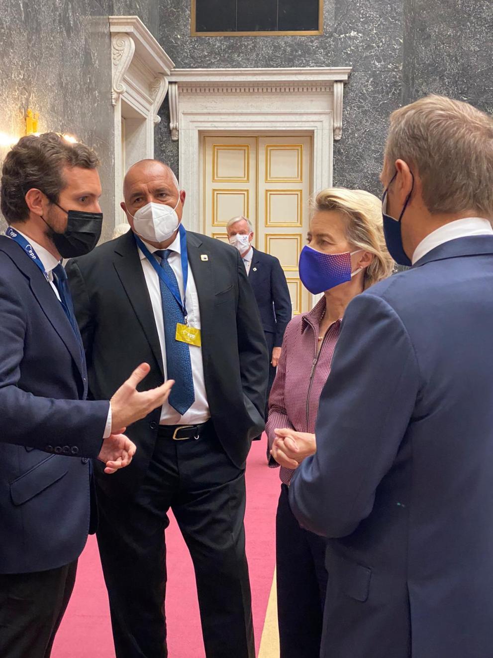 Борисов и Фон дер Лайен разговарят в Брюксел