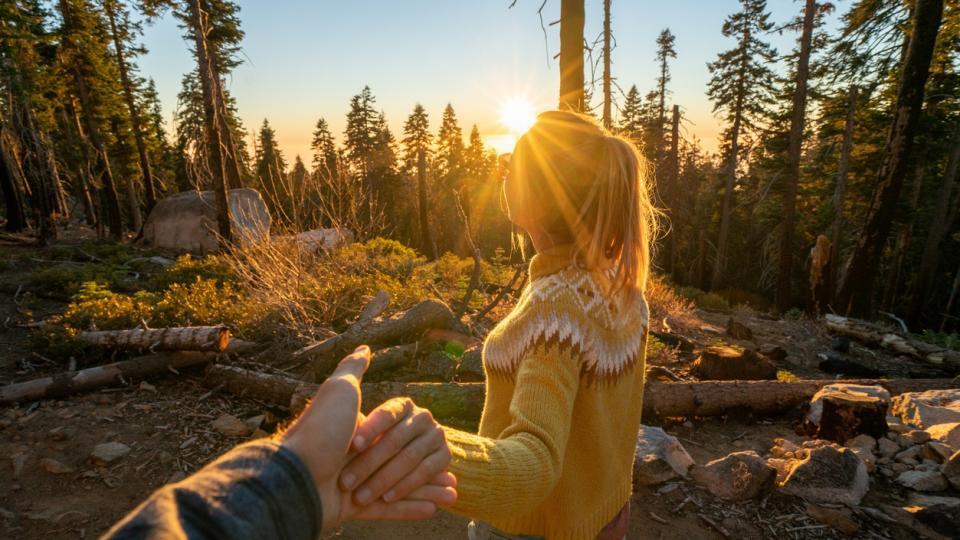 есен жена двойка любов изгрев залез природа