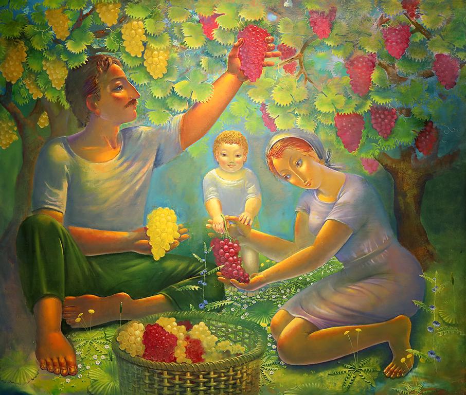 <p>Богатствата на земята, 2012 г, маслени бои, платно</p>