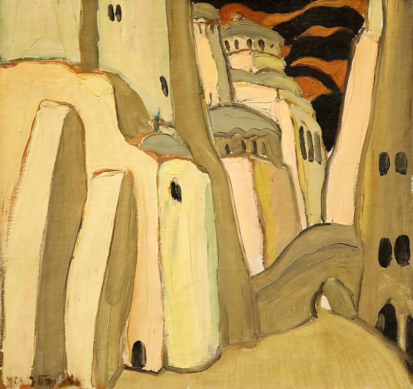 <p>Иван Пенков (1897-1957), Манастир, маслени бои, платно</p>