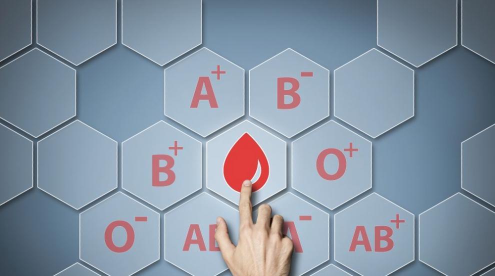 Ново изследване потвърди кръвната група с по-нисък...
