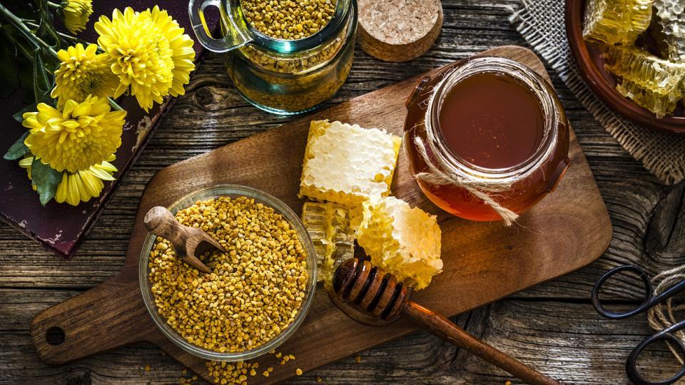 мед пчелен прашец прополис