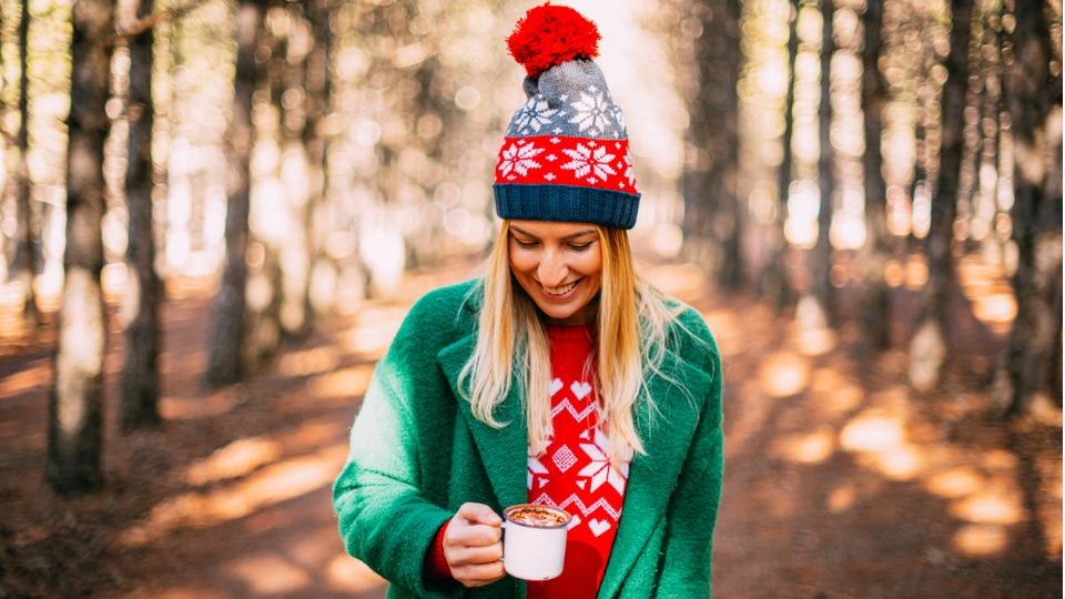 жена зима коледа