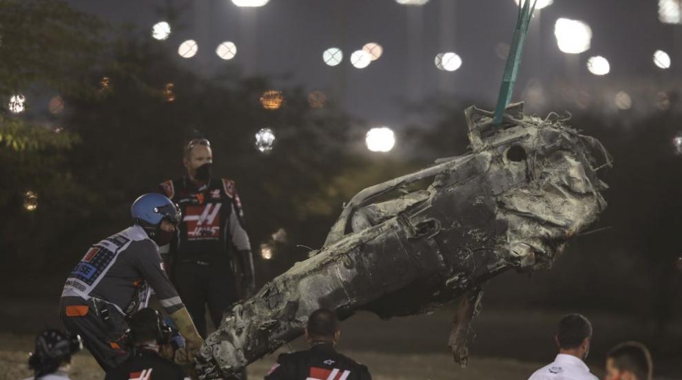 Ужасяваща катастрофа на старта във Формула 1 в Бахрейн (ВИДЕО/СНИМКИ)