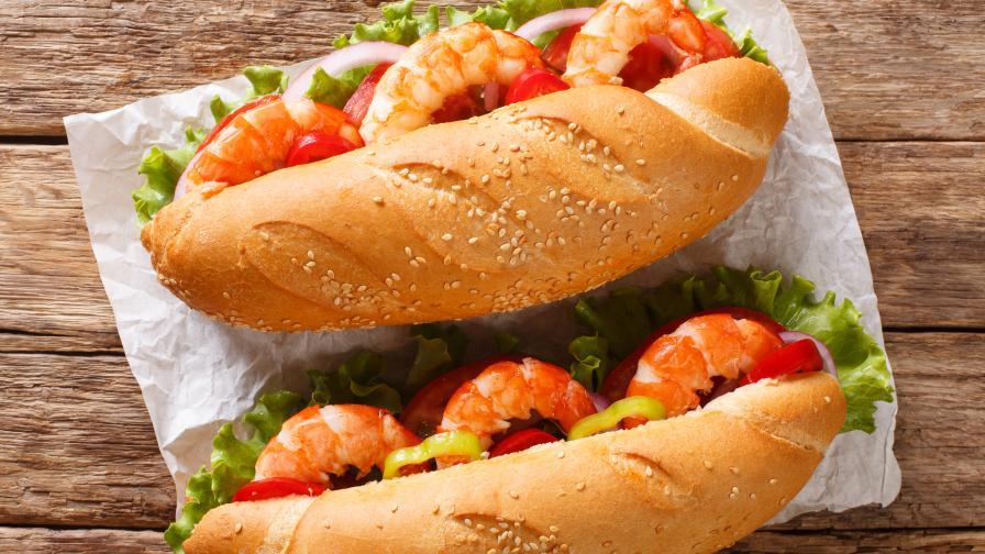 Идея за обяд: Френски сандвич с рачешко и скариди