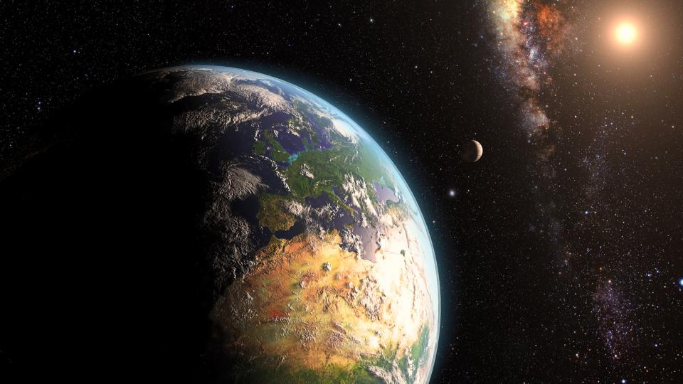 Земя небе Луна Слънце