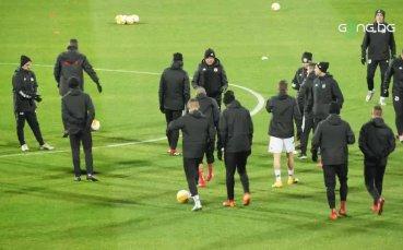 ЦСКА тренира преди сблъсъка срещу Рома