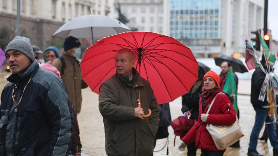 Протестиращи се събраха на Национален митинг в центъра на София