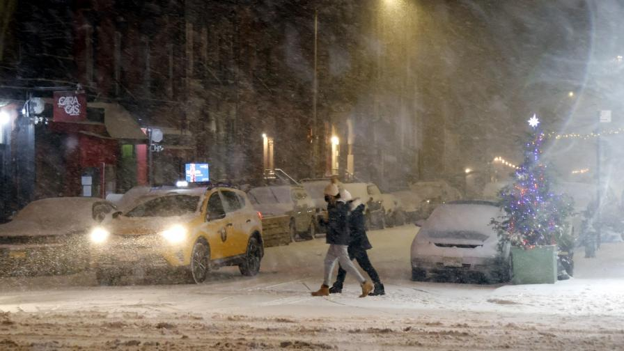 """Силна снежна буря в САЩ, """"сняг, колкото през цялата минала зима"""""""