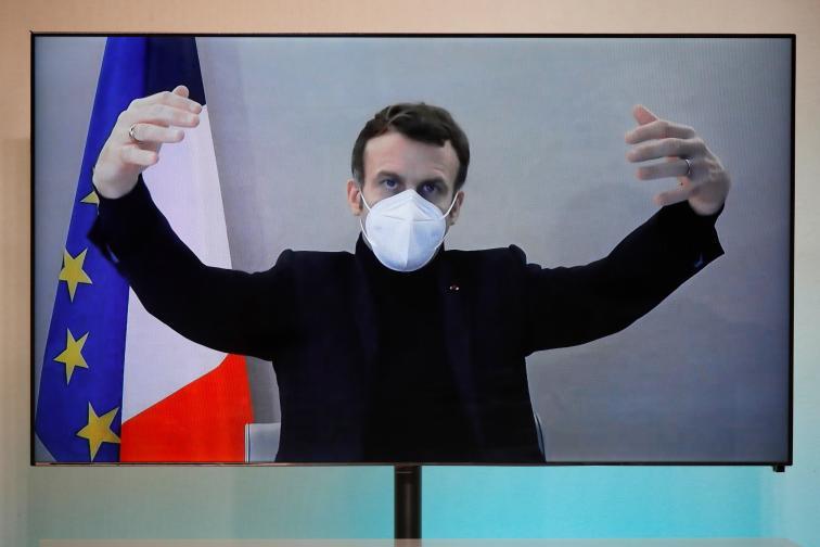 Еманюел Макрон участва виртуално на кръгла маса за Националната хуманитарна