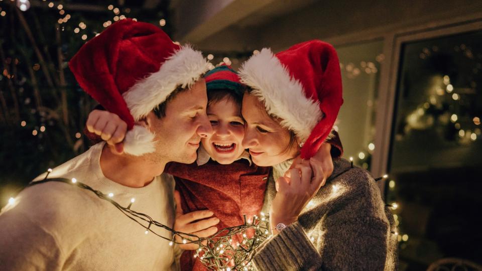 Коледа семейство празник празници