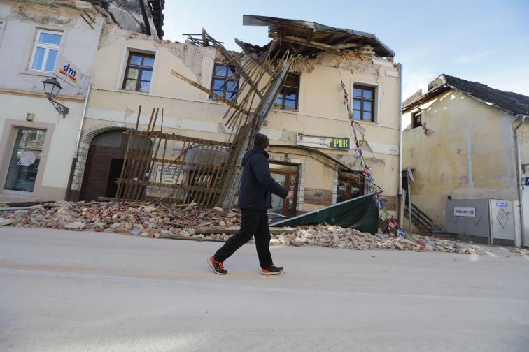 Ново силно земетресение в Хърватия разрушения и загинали