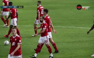 Два гола за ЦСКА в рамките на минута