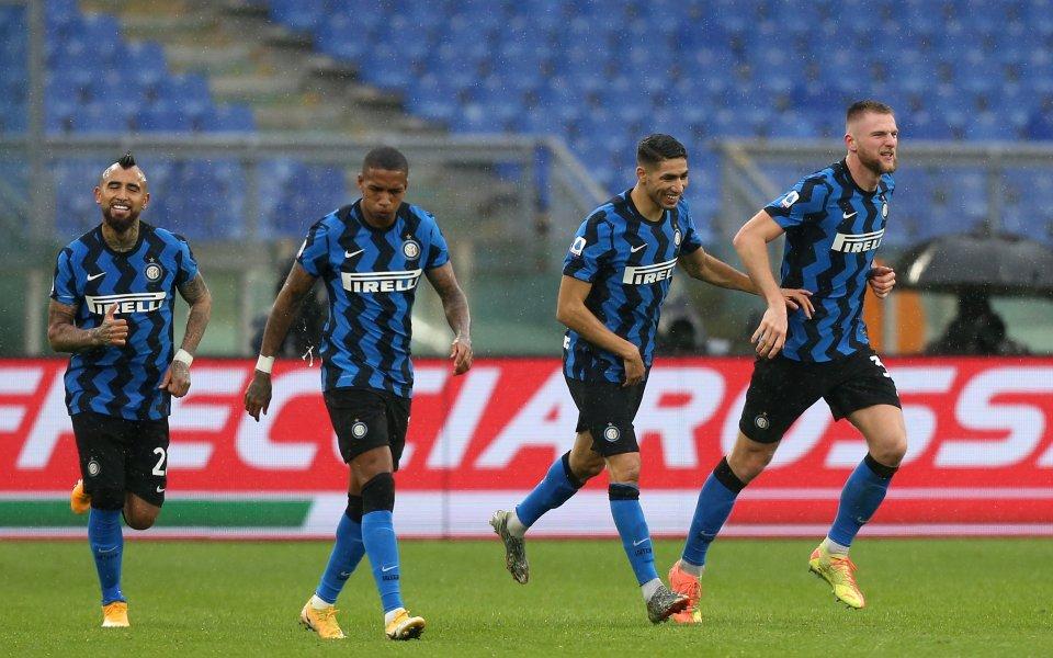 Отборите на Рома и Интер играят при резултат 1:2в дербито