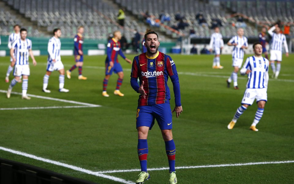 Реал Сосиедад и Барселона играят при резултат 0:1в полуфинала си