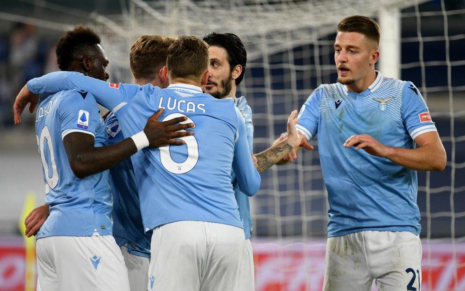 Лацио победи Рома с3:0в първото в историята дерби на италианската