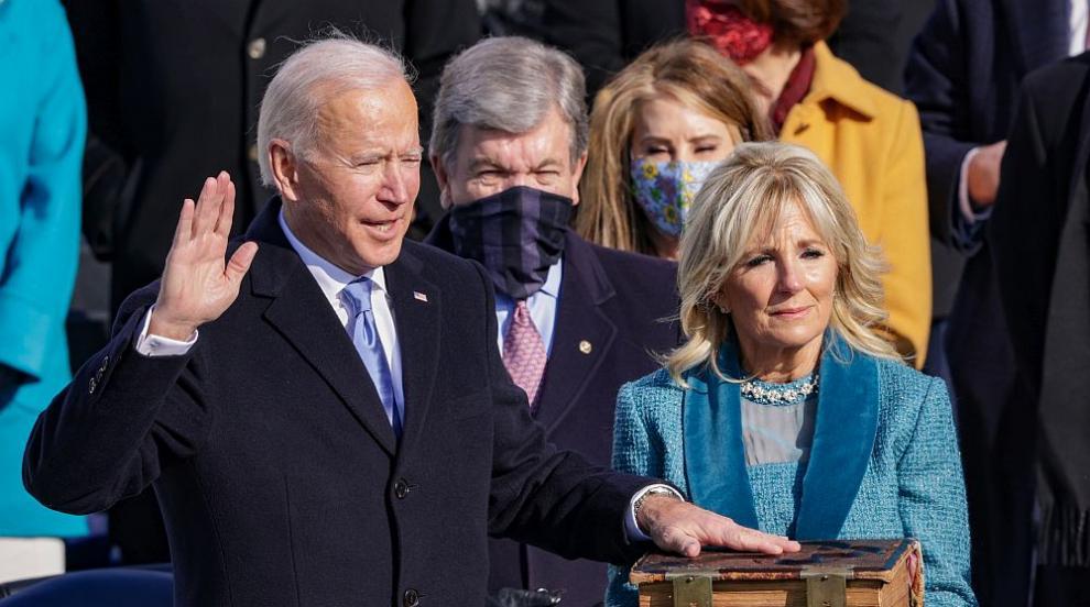 Джо Байдън се закле като 46-ия президент на САЩ (СНИМКИ/ВИДЕО)