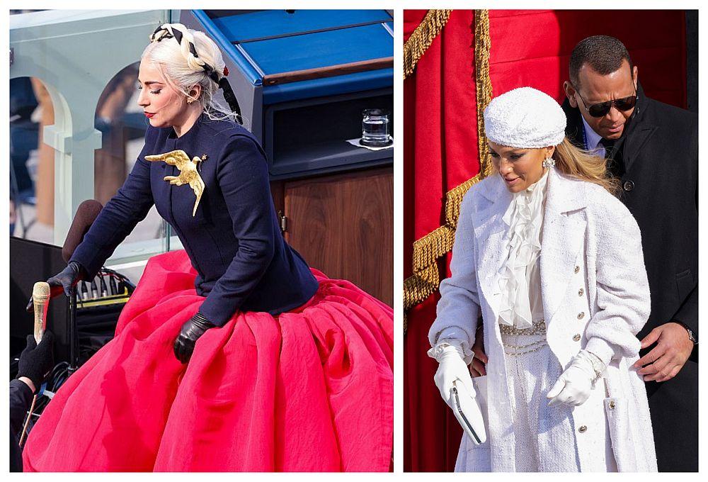 Екстравагантните тоалети на Лейди Гага и Джей Ло