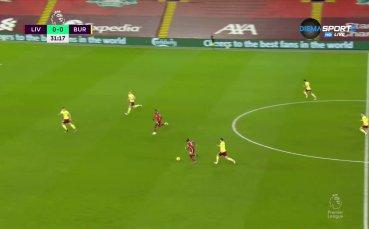 Ливърпул 0:0 Бърнли /първо полувреме/