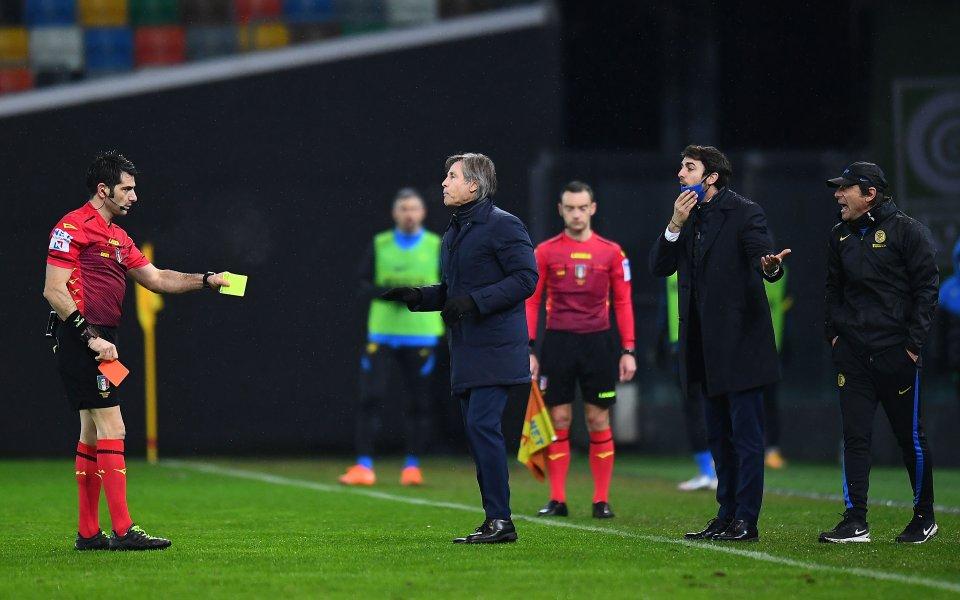 Старши треньорът на Интер Антонио Конте бе наказан с лишаване