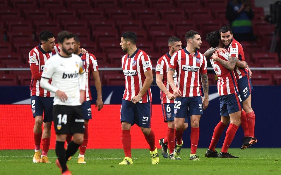 Водачът в Ла Лига,Атлетико Мадрид, постигна пореден важен успех, надделявайки