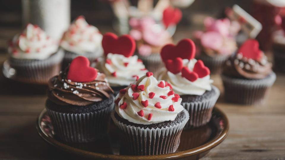 мъфин кексче сладко десерт любов Свети Валентин
