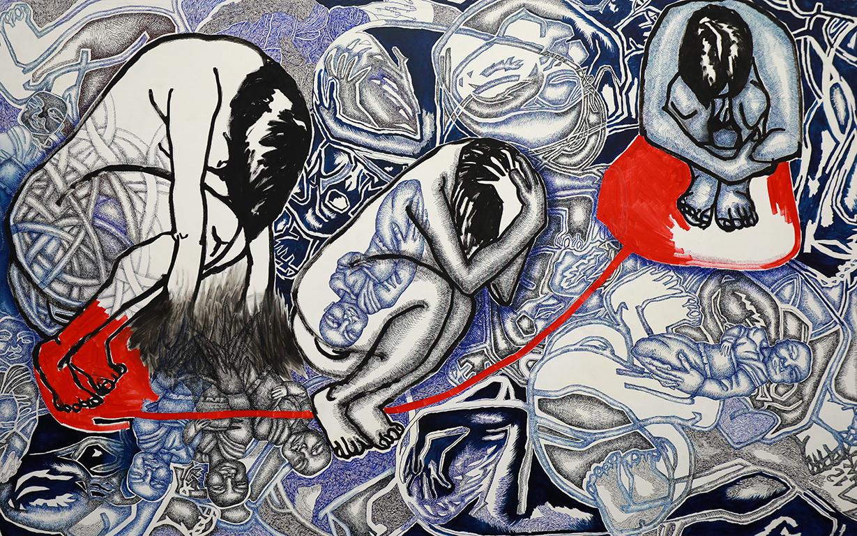 <p>Изложбата &bdquo;Вакуум&ldquo; на Моника Попова</p>