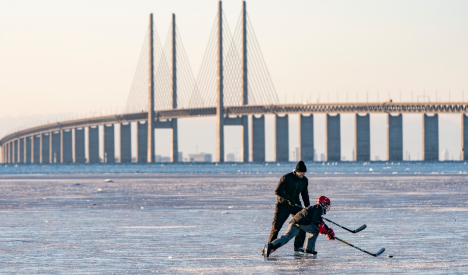 <p>Ледена зима в Швеция</p>