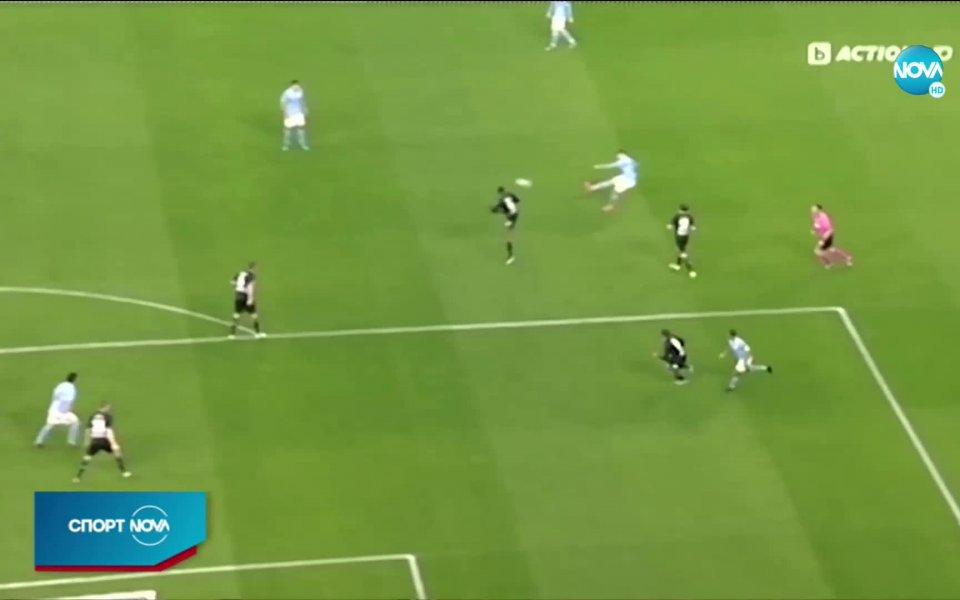 Манчестър Сити взе комфортен аванс срещу Борусия Мьонхенгладбах в мач