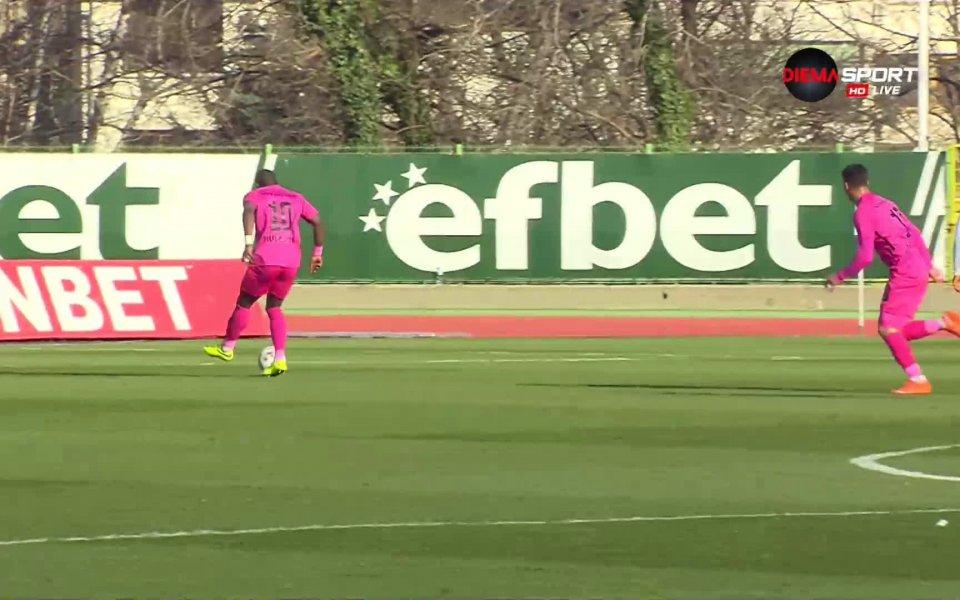 В 82-ата минута Елвис Ману прави резултата 3:1 за Лудогорец!
