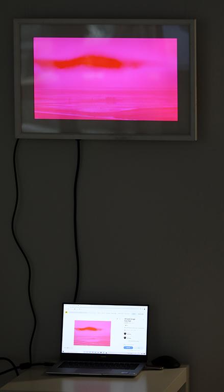 <p>&bdquo;Магентен прилив #1&rdquo;, 2008, заснета на остров Зюлт е фотография за монитор и може да бъде закупена от платформите за NFT Art.</p>