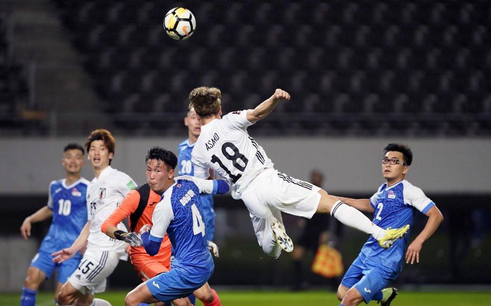 Япония разгроми с невероятния резултат от 14:0 Монголия в мач
