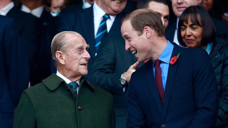 Принц Уилям и принц Филип