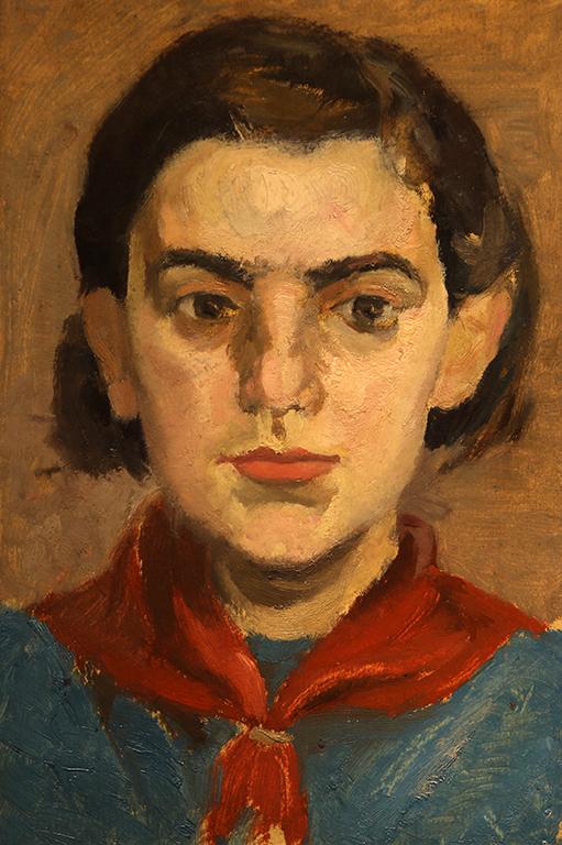 <p>Момиче с червен шал</p>