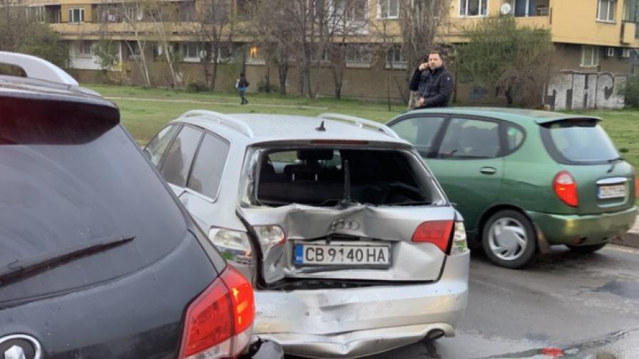Верижната катастрофа на Ботевградско шосе