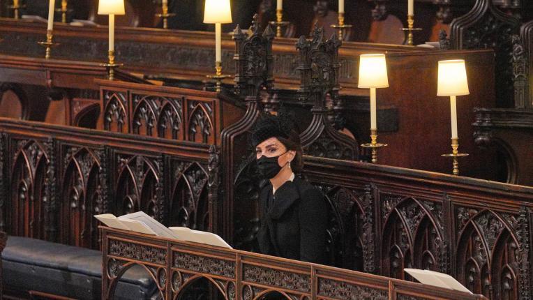 Кейт Мидълтън на погребението на принц Филип
