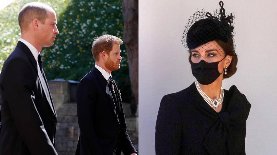 """Кейт послужила като """"миротворец"""" между Уилям и Хари"""