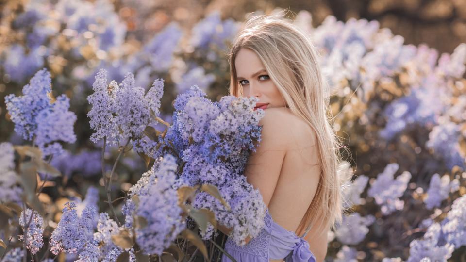 жена дневен пролет цветя