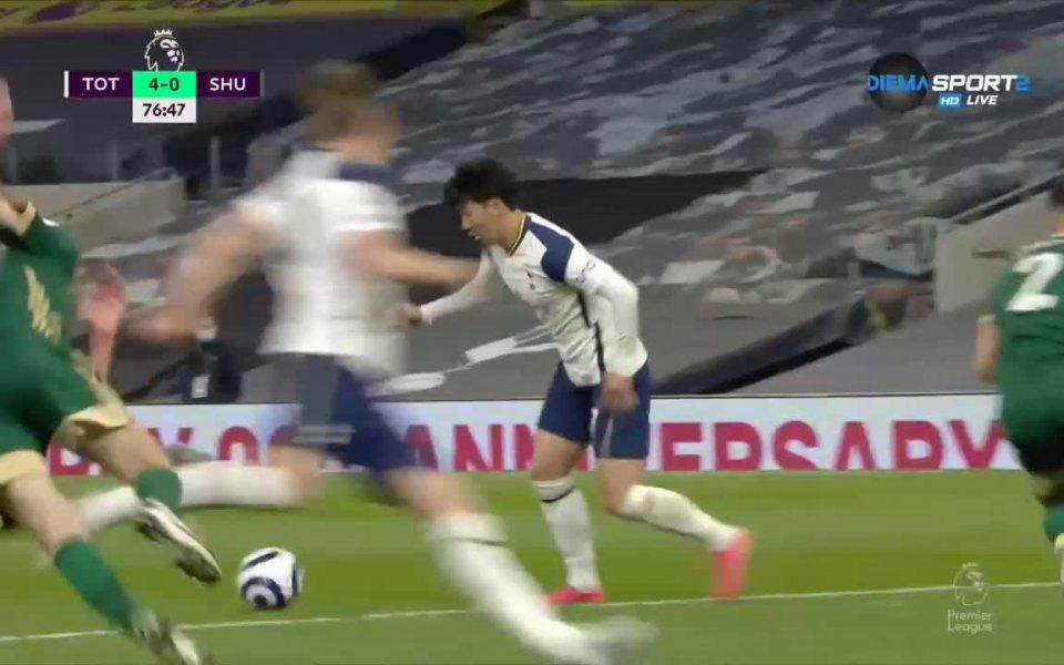 Тотнъм записа очаквана победа с 4:0 над аутсайдера Шефилд Юнайтед