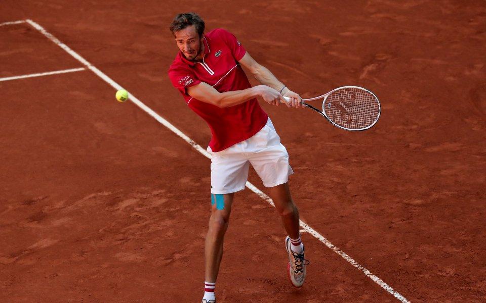 Световният №3 Даниил Медведев, който претърпя трисетово поражение от Кристиан