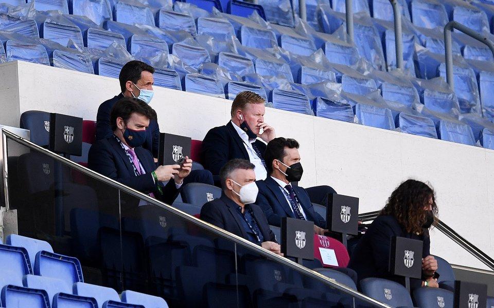 Треньорът на Барселона Роналд Куман остава оптимист, въпреки равенството срещу