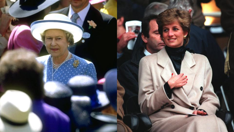 кралица Елизабет принцеса Даяна