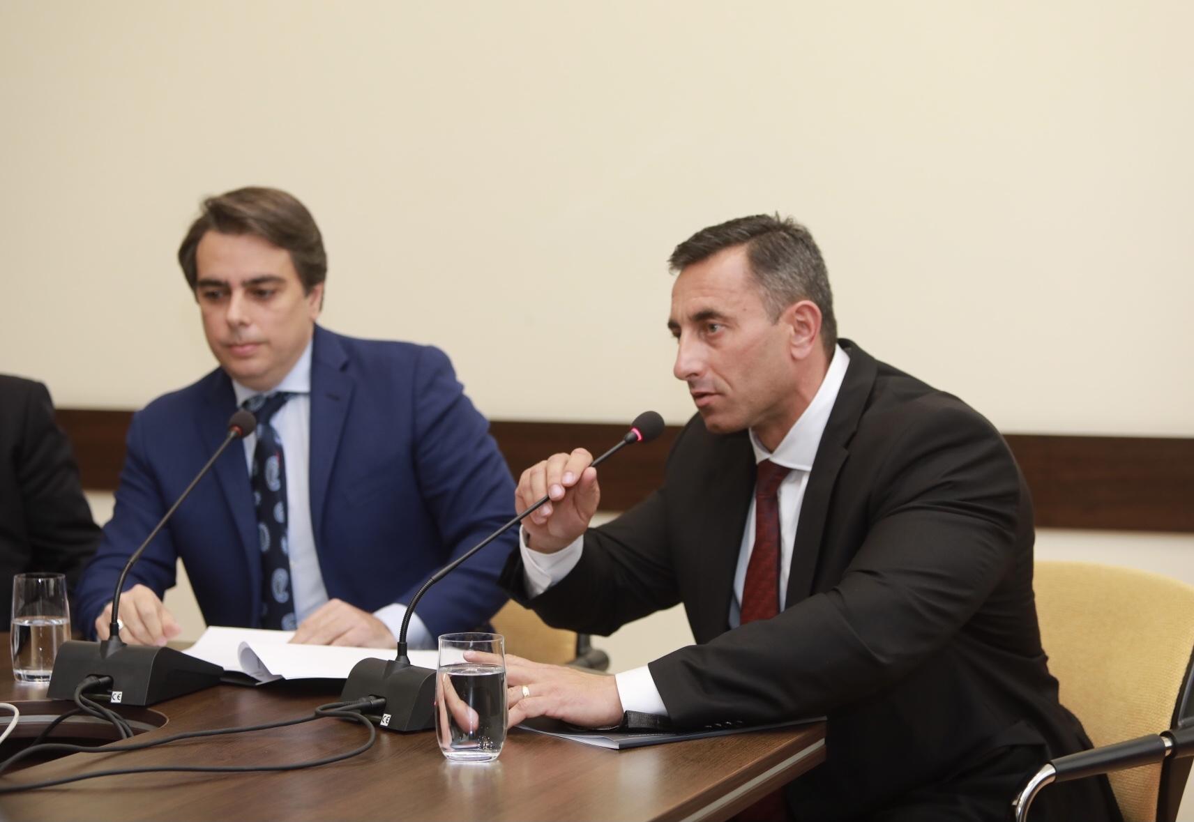 Брифинг министъра на финансите Асен Василев